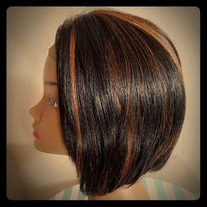 100% human hair bob wig
